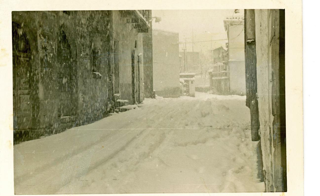 Inverno al paese - Neve anno 1950