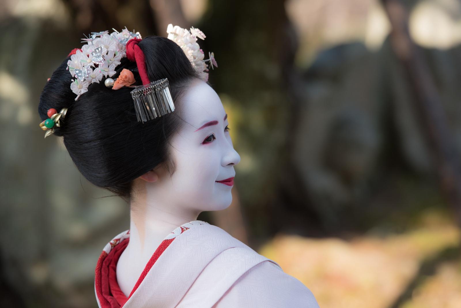 Ritratto della giovane maiko Kanohiro. © Fabrizio Bonifazi.