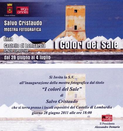 """Personale Fotografica """"I colori del Sale"""""""