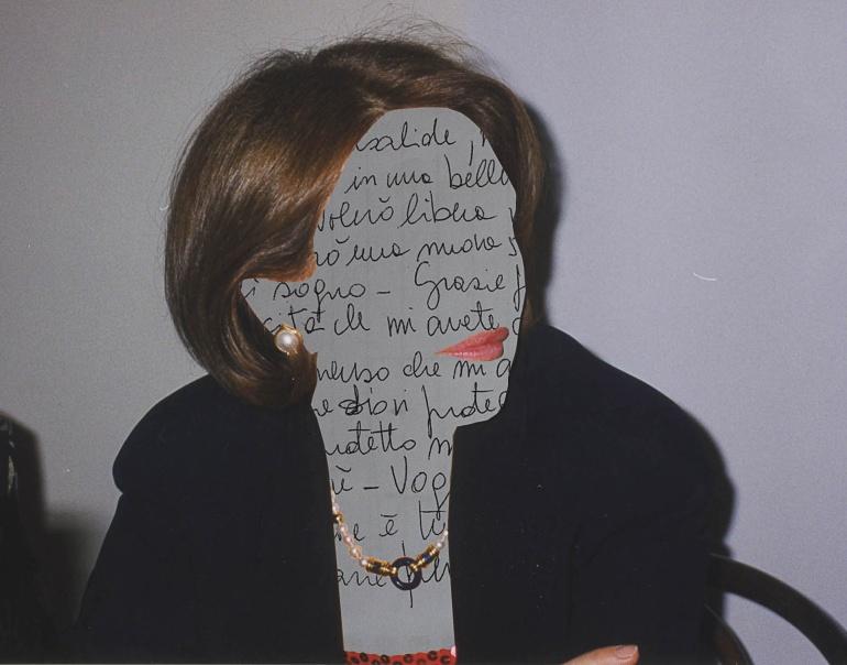 Mia madre ci lasciò scritte delle parole prima di andarsene, collage, Italia, ?. © Anna Pizzoccaro.